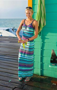 Byzantine Maxi Dress | Athleta Summer 2013 Collection--the colors, the beach, the stripes