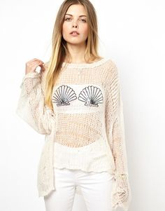 Image 1 of Wildfox Sweater With Sequin Shells