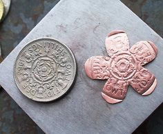 Embossing Metal with Coins