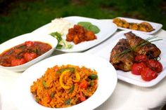 A flavoursome banquet.© Waakye Leaf Photography by Elaine Sutton. Nigerian Food, Home Food, Food Presentation, Tandoori Chicken, Food For Thought, Curry, Healthy Eating, Cooking Recipes, Ethnic Recipes