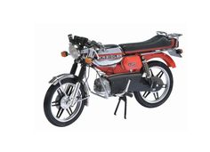 Schuco 1:10 Kreidler Florett Diecast Model Motorcycle 06623 This Kreidler Florett Diecast Model Motorcycle is Red and features working stand, steering, wheels. It is made by Schuco and is 1:10 scale (approx. 21cm / 8.3in long). #Schuco #ModelMotorbike #Kreidler #MiniModelBikes