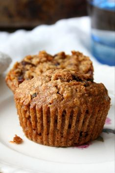 The best, most scrumptious date carrot muffins — my family's ABSOLUTE favorite. We make these moist, sweet, and healthy-ish muffins ALL THE TIME. They are just that yummy. Plus, they're nut-free and perfect for popping into school lunches. Healthy Carrot Muffins, Healthy Breakfast Muffins, Healthy Muffin Recipes, Healthy Baking, Healthy Desserts, Gourmet Recipes, Baking Recipes, Cake Recipes, Dessert Recipes