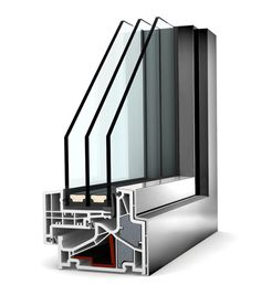 Okno PCV - aluminium Internorm Home Pure KF 500. Izolacyjność cieplna okna do 0,61 W/m²K.