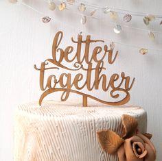 Besser zusammen Kuchen-Topper Hochzeit von CorkCountryCottage