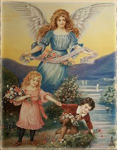 "Painting ""Guardian Angel and Children"" .. Discussion on LiveInternet - Russian Service Online Diaries"