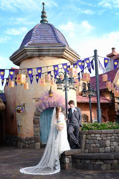 "We have a feeling Rapunzel would describe this as the ""best day ever"" - Magic Kingdom Portrait Session"
