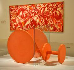 Tim Scott  'Peach Wheels' 1961 & LEE KRASNER Combat' 1965 Lee Krasner, Tim Scott, Jackson Pollock, Wheels, Table Lamp, Peach, Sculpture, Home Decor, Art
