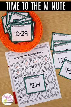 Grade Math: Time to the Minute and Elapsed Time 3rd Grade Math, Third Grade, Time Word Problems, Roll A Die, Core Learning, Daily Lesson Plan, Future School, Elapsed Time, Recording Sheets