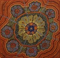 Aboriginal  33 x 37-hook rug pattern