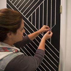 DIY door upgrade using painter's tape // East Coast Creative