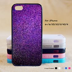 Pink Glitter Phone Case For iPhone 6 Plus For iPhone 6 For iPhone 5/5S For iPhone 4/4S For iPhone 5C-5 Colors Available