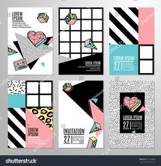 stock-vector-memphis-cards-with-geometric-elements-set-of-vector-banners-in-trendy-s-s-memphis-style-can-511246660.jpg (1500×1545)