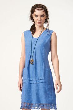 PLS fashion : Φόρεμα λινό αμάνικο (842) Linen Dresses, Casual, Fashion, Moda, Fashion Styles, Fashion Illustrations