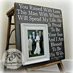 For the In-laws, given to them on our wedding during the parent appreciation part...
