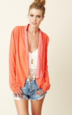 Addison Soft Pleated Jacket on @shopplanetblue almost sold out!