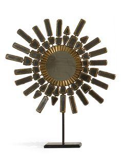 Soliel Mirror. 19 Diam x 22 h