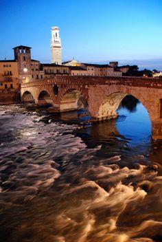 Verona - Carlucci Francesco - Ponte Pietra - Stone Bridge #Italy, province of Verona , Veneto region Italy