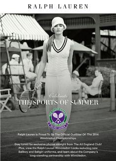 #Wimbledon 2014 Tennis Tournaments, Wimbledon, Ralph Lauren, Lifestyle, Learning, Chic, Shabby Chic, Elegant, Studying