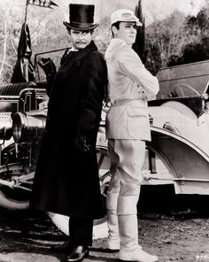 """Jack Lemmon as Professor Fate and Tony Curtis as The Great Leslie in director Blake Edwards' """"The Great Race""""."""