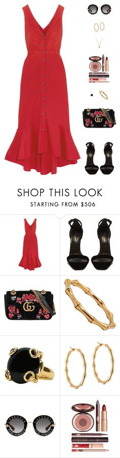 """Untitled #5049"" by mdmsb on Polyvore featuring Saloni, Yves Saint Laurent, Gucci and Charlotte Tilbury"