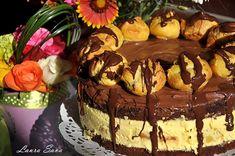 Tort Profiterol | Retete culinare cu Laura Sava - Cele mai bune retete pentru intreaga familie Biscuits, Mai, Sweets, Cooking, Healthy, Desserts, Cakes, Food, Deserts