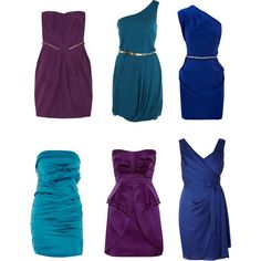 Peacock color-inspired bridesmaid dresses   # Pin++ for Pinterest #