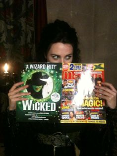 I love the fact that this Merlin magazine has an ad for wicked on the back (and that Katie's reading it, of course)