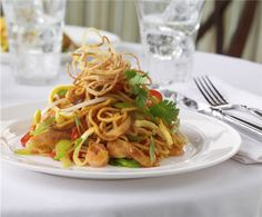 Bursts of color and flavor in our Singapore Noodles in our Main Dining Room. #RoyalCaribbean #food