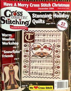 PATTERN cross stitch magazine CROSS COUNTRY STITCHING CHRISTMAS primitive 2004 #crosscountrystitching #christmasprimitive