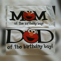 Elmo Mom and Dad Birthday Shirt Bundle Sesame Street by rikirenee