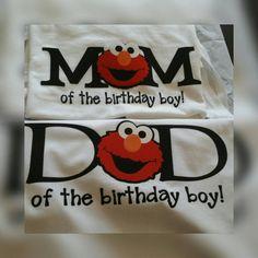 Elmo de mamá y papá cumpleaños camisa paquete Sesame por rikirenee