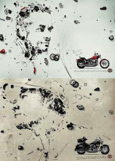 Harley Davidson Parts advertising by Brock Davis