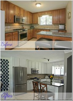 Painted Cabinets {DIY}....can I do this?  Hmmm