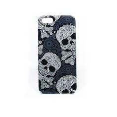 Iphone 5 hard cover fashion skull in zwart/blauw. Nu voor maar 15 EURO. Verkrijgbaar op www.fabstyle.nl