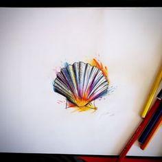 watercolour tattoo shell - Pesquisa Google
