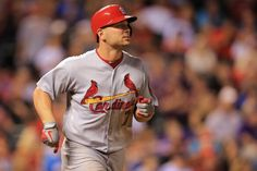 Matt Holliday rounds the bases on his two run homerun off of Rob Scahill of the Colorado Rockies in the 5th inning.  Cards won 11-4.  9-17-13
