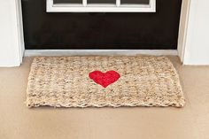 Welcome Cupid! DIY Valentine Rug