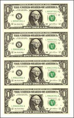 8 Best Images of Printable Phony Money - Printable Fake Money Template, Printable Fake Money Dollar and Free Printable Play Money Fake Money Printable, Fake Dollar Bill, One Dollar, Play Money Template, Bill Template, Templates Printable Free, Printables, Anniversaire Cow-boy, Tableau Pop Art
