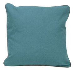 Teal Organic Cotton Solid Pillow