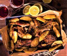 Κατσικάκι λεμονάτο με πατάτες στη γάστρα | Συνταγή | Argiro.gr Food Categories, Pot Roast, Steak, Beef, Healthy Recipes, Ethnic Recipes, Kitchen, Carne Asada, Meat