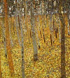 "Gustav Klimt - Secession & Art Nouveau - ""Beech Grove I"" - 1902 Gustav Klimt, Klimt Art, Claude Monet, Art Nouveau, Franz Josef I, Land Art, Tree Art, Oeuvre D'art, Landscape Paintings"