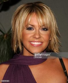 Farah Fath during Annual Soap Opera Digest Awards Reception - Arrivals at White Lotus in Hollywood, California, United States. Get premium, high resolution news photos at Getty Images Messy Bob Hairstyles, Haircuts For Fine Hair, Short Layered Haircuts, Short Hair Cuts, Medium Hair Styles, Curly Hair Styles, Hair With Flair, Growing Your Hair Out, Choppy Hair