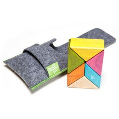 I love these Tegu Blocks! They're magnetic and they make the most satisfying click when you snap them together. I think I play with our set as much as the kids do. $22 via Totsy