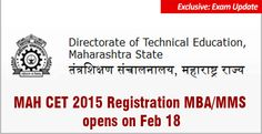 """""""MAH CET 2015 Registration process will start from 18 feb 2015. MAHCET 2015 since the exam is less than a month away"""""""