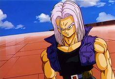 """Trunks """"Dragonball Z"""" That """"glare"""" alone proves he's Vegeta's son. <3"""