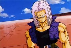 "Trunks ""Dragonball Z"" That ""glare"" alone proves he's Vegeta's son. <3"