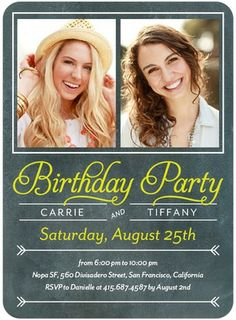 Paired Party - Adult Birthday Party Invitations - Petite Alma - Margarita - Green : Front