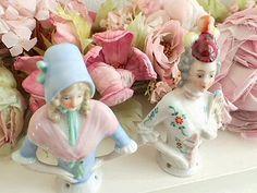ポーセリン・ハーフドール((A)、(B)SOLD) - イギリスとフランスのアンティーク | バラと天使のアンティーク | Eglantyne(エグランティーヌ)