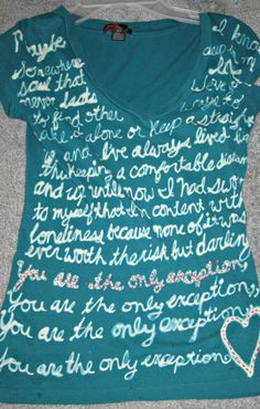 I made one of these a while back, but I just dipped a q tip in bleach. And I used my favorite song at the time. :D