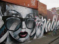 Street Art - Graffiti - Urban culture. RONE New Mural In Melbourne, Australia StreetArtNews